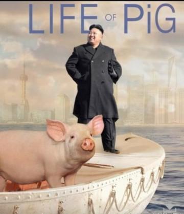 Kim Jong Un x Life of Pi pigs mashup