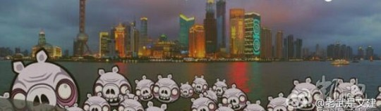 Angry Birds' Pigs on the shores of Shanghai