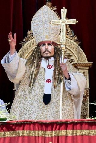 Johnny Depp as pope?