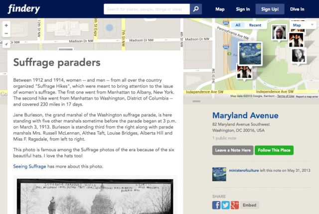 Findery: Suffrage Paraders