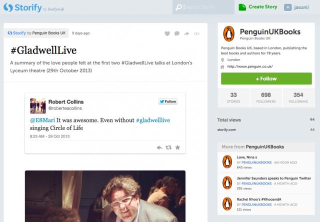 Storify: #GladwellLive