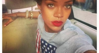 Rihanna loves selfies.