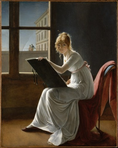 "Marie-Denise Villers, ""Young Woman Drawing"" (1801) (image via metmuseum.org)"
