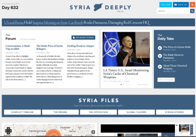 Syria Deeply. Image from Gigaom.